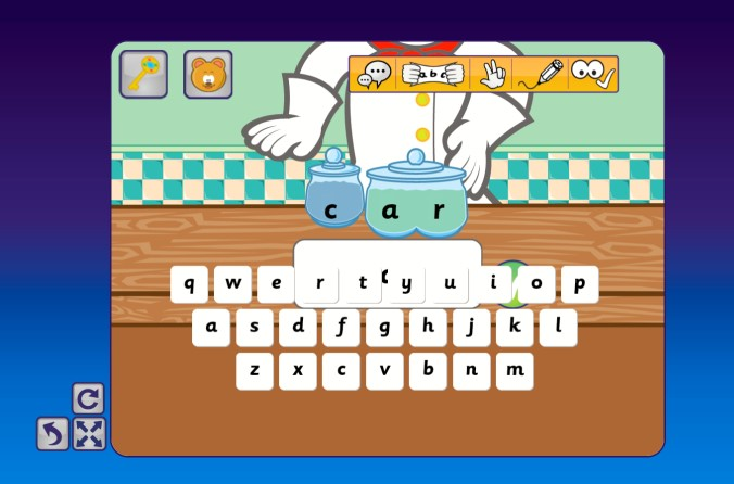 keyboard overlaps the screen in spelling game