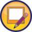 CW Write icon of a pencil and screen.